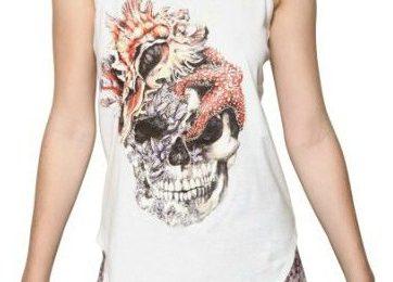 Alexander McQueen, le nuove t-shirt estive con stampa a forma di teschio