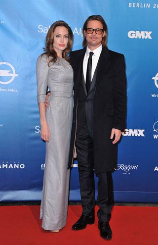 Angelina Jolie assieme a Brad Pitt al Cinema for Peace Gala