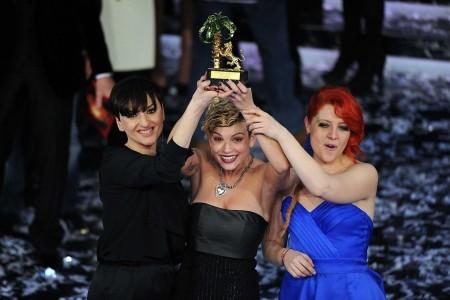Vincitori Sanremo 2012: il podio rosa di Emma, Arisa e Noemi che mancava dal 1999