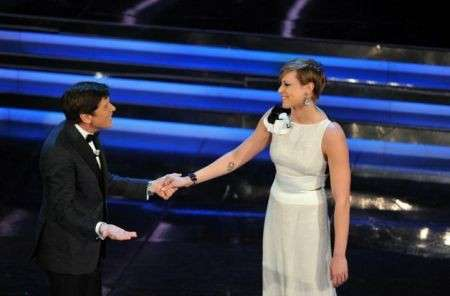 Federica Pellegirni ospite terza serata Sanremo 2012