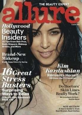 Vip senza trucco: Kim Kardashian posa senza make up per Allure
