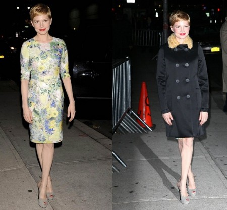 michelle williams erdem dress