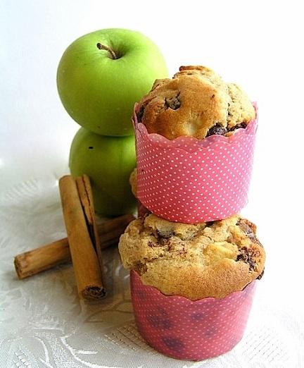 Ricetta muffin con mele e cannella