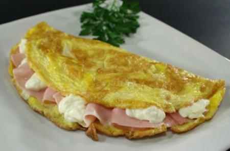 ricetta light prosciutto omlette