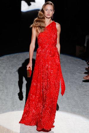 salvatore ferragamo spring 2012 abito rosso
