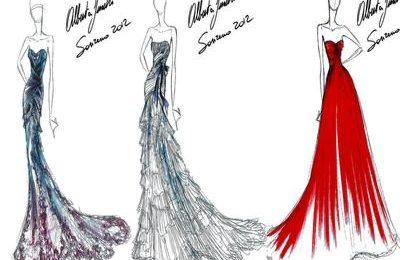 Sanremo 2012, Alberta Ferretti veste Ivana Mrazova la prima sera