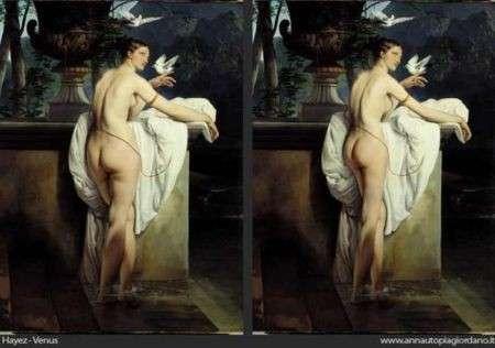 Nuovo peso forma per le Veneri dell'arte, dimagrite con Photoshop
