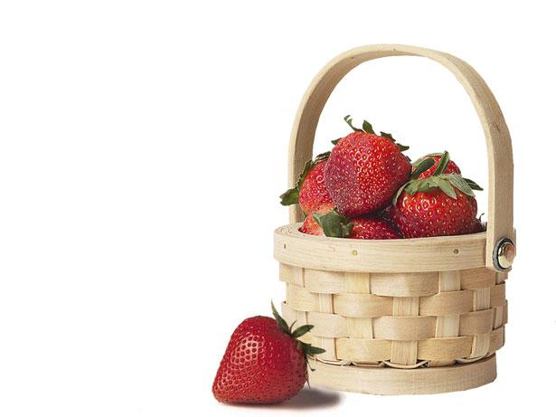 Frutta salute cesto fragole