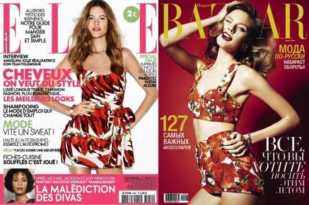 Le stampe italiane di Dolce & Gabbana conquistano anche Harper's Bazaar Russia e Elle France