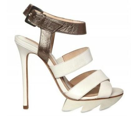 camilla skovgaard sandali metallizzati
