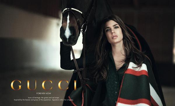 charlotte casiraghi per gucci forever now