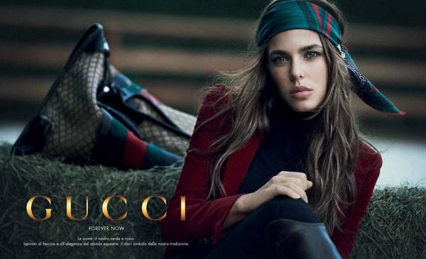 """Charlotte Casiraghi è la testimonial del progetto Gucci """"Forever Now"""""""