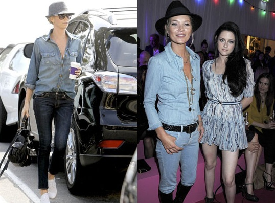 denim look country chic