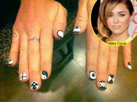 Unghie decorate: Miley Cyrus e le altre star ne vanno matte [FOTO]