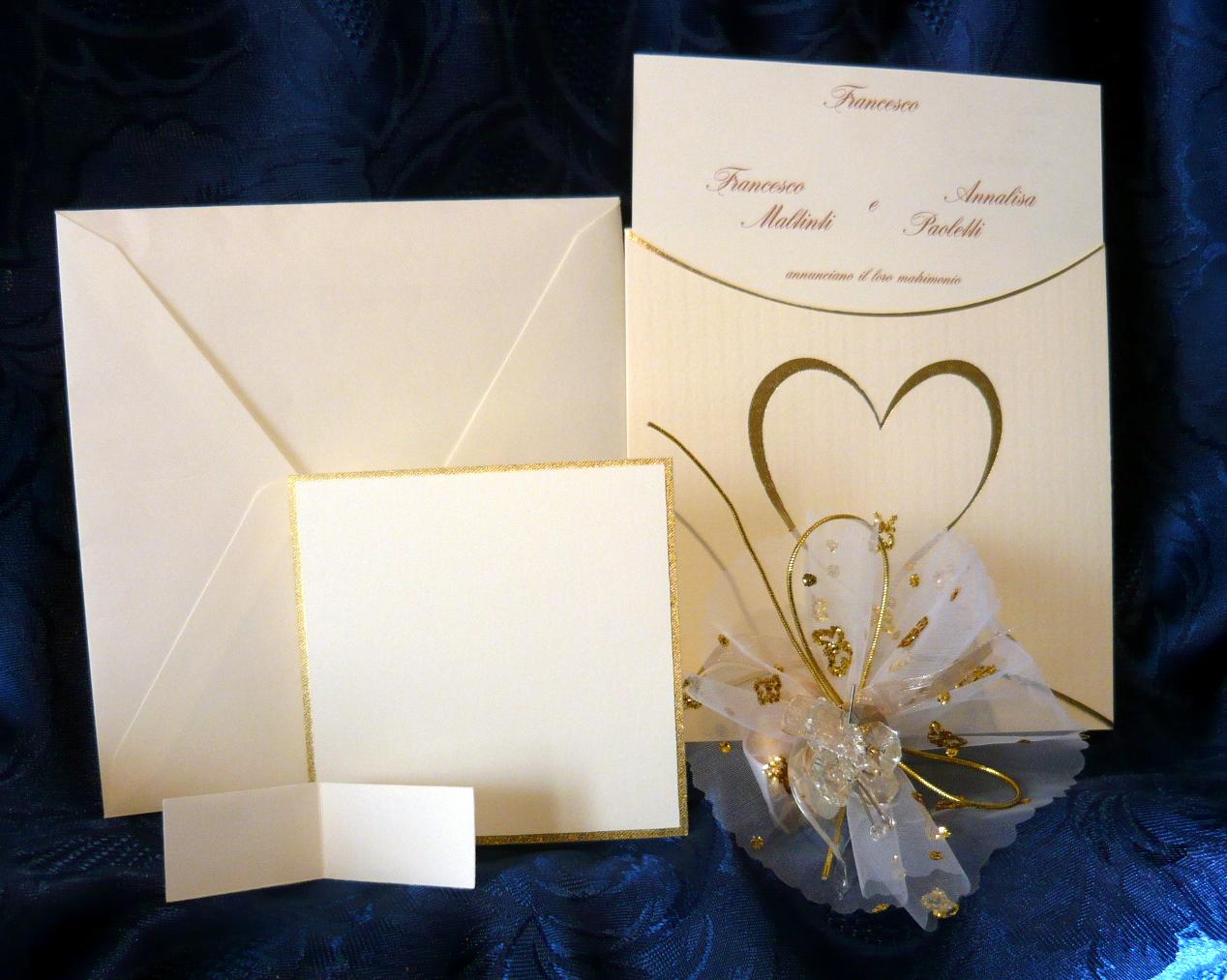 partecipazioni di nozze cuore