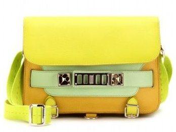 Festa della donna con la nuova shoulder bag giallo mimosa PS11 di Proenza Schouler