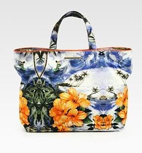 Borse Stella McCartney, la nuova shopping bag con stampa tropicale per l'estate