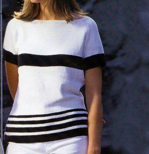 Lavori a maglia: come creare una t-shirt con sprone arrotondato
