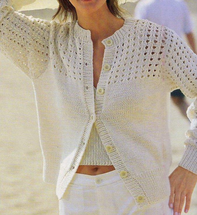 Crea un cardigan bianco con i nostri lavori a maglia | Pourfemme