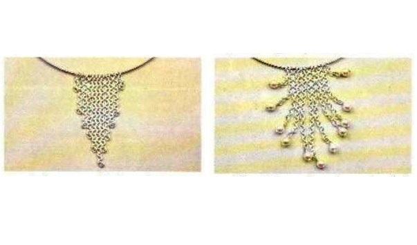 Illustrazioni collier argento e perle