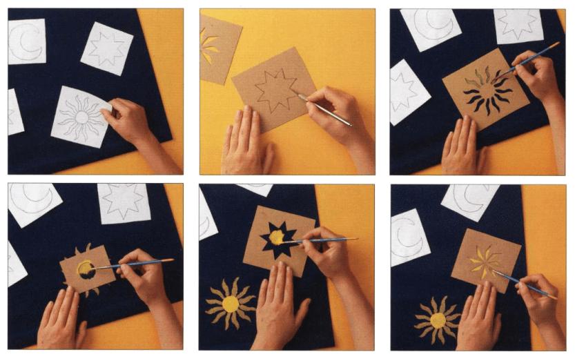 Istruzioni illustrate tendina decorata