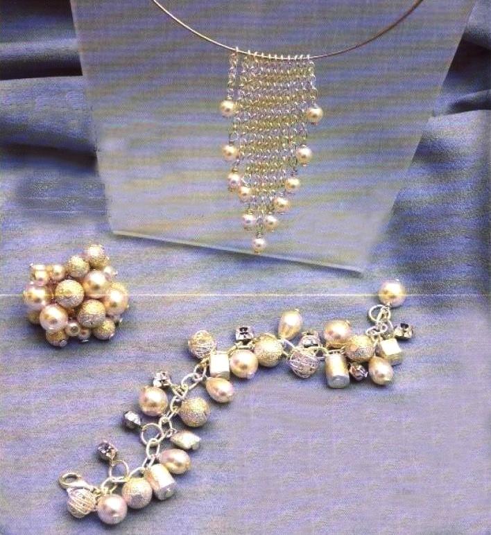 Crea una parure di bijoux fai da te di perle e argento