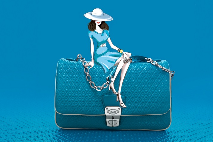 Tods Signature Collection tracolla blu