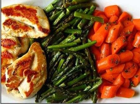 carne bianca e verdura per vivere a lungo