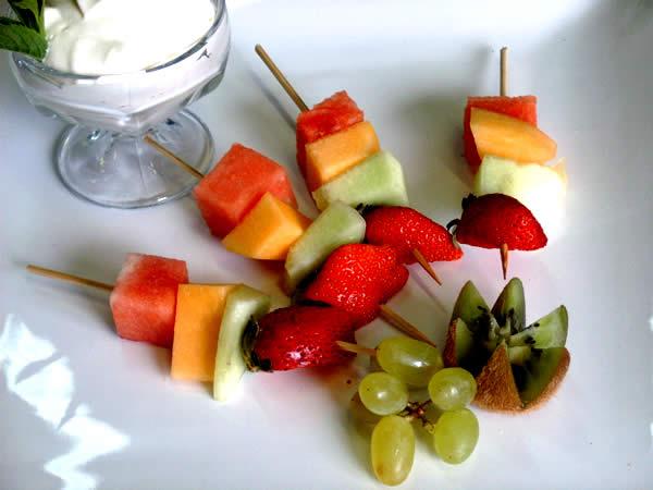 dolci golosi spiedini frutta