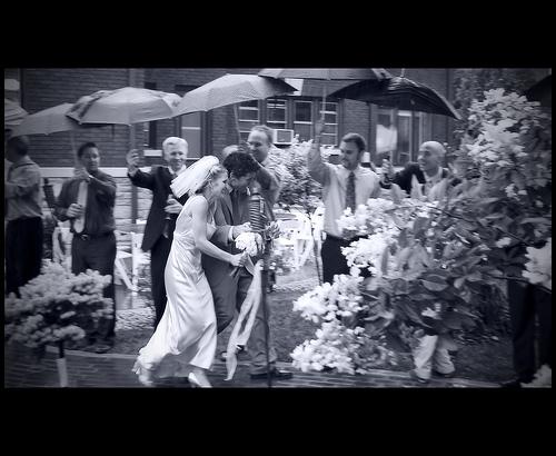 matrimonio con pioggia idee