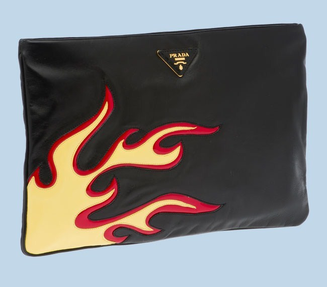 prada pochette pe 2012 fiamme nera