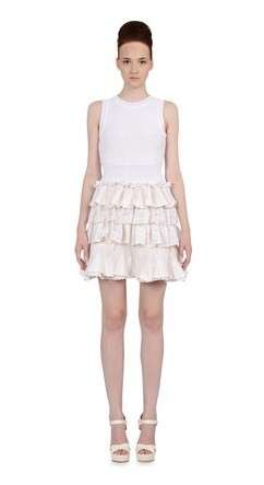 Red Valentino minidress con rouches