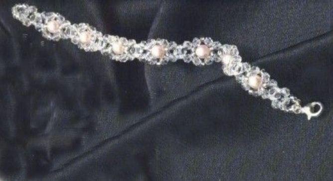 Bracciale perla rosa bijoux