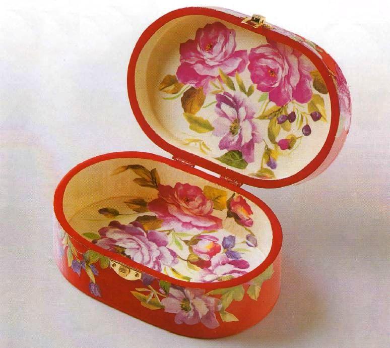 Decoupage bauletto rose