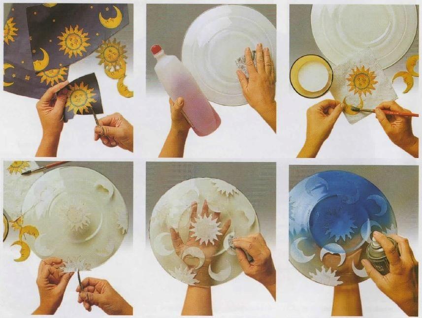 Istruzioni decorazione piatto in vetro