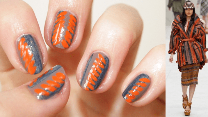 Manicure tribale sfilata Burberry Prorsum