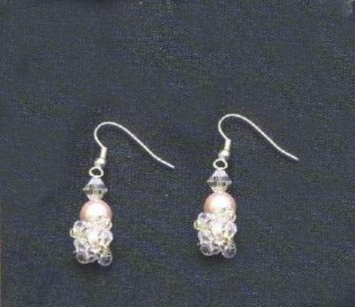 Orecchini perla rosa bijoux
