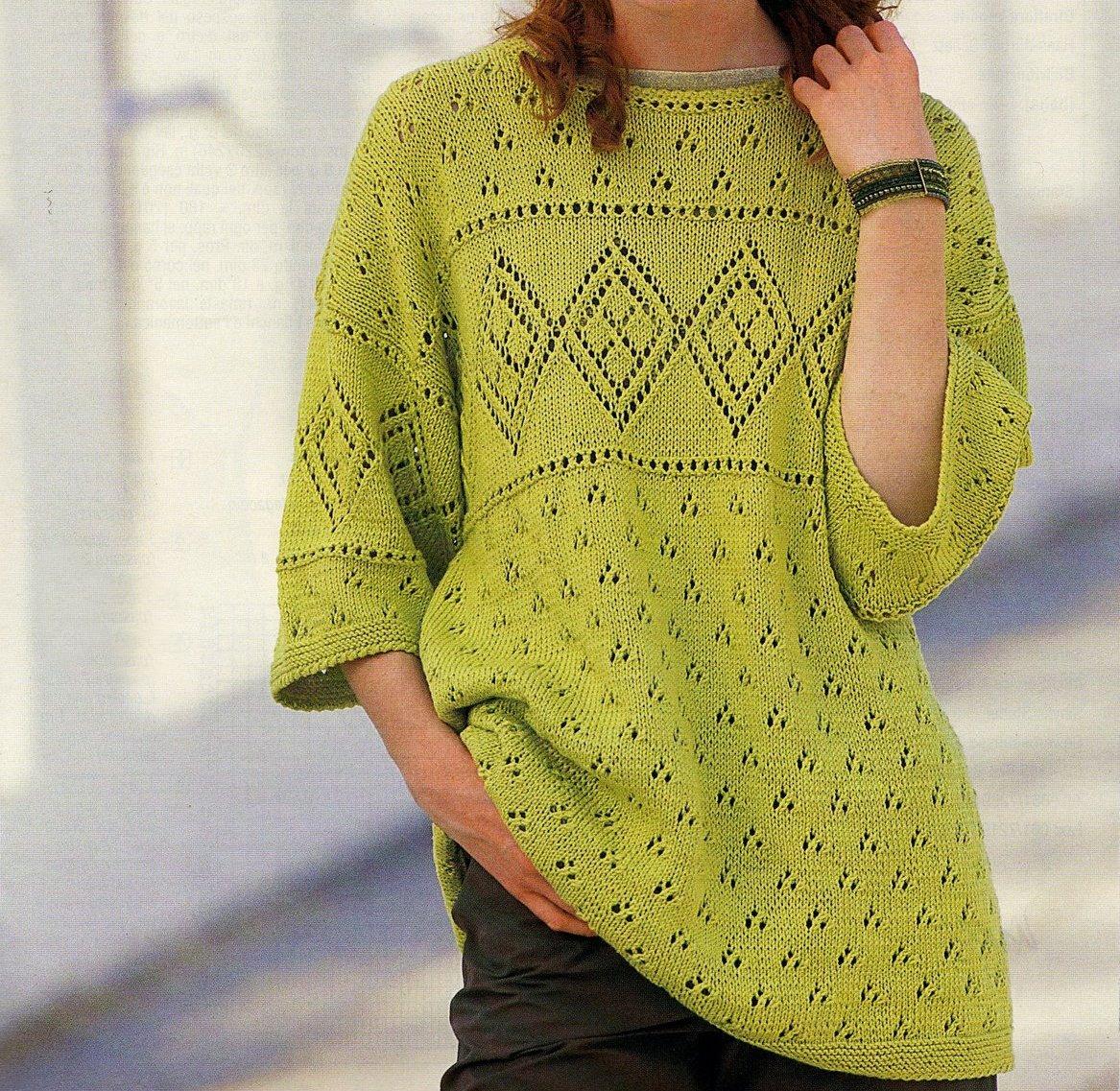 Crea un pullover a maniche corte con i nostri lavori a maglia