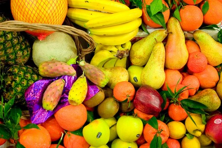 cibi gialli arancioni