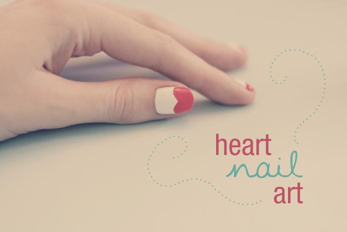 nail art cuore