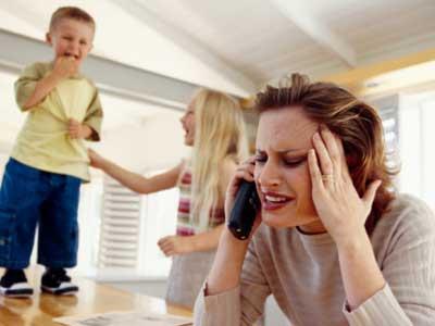 sgridare bambini