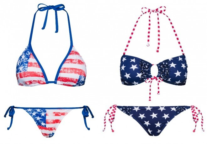 stelle strisce bikini