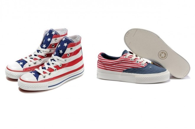 stelle strisce sneakers