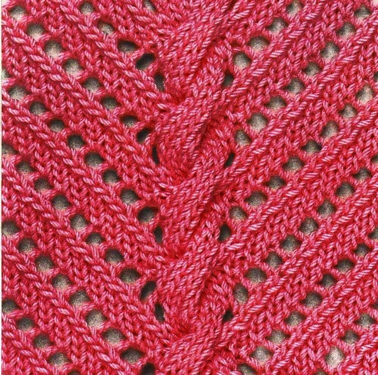 Dettaglio punto ajour traforato pull rosa