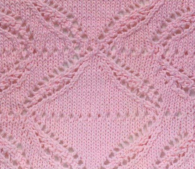 Dettaglio punto traforato maglietta rosa