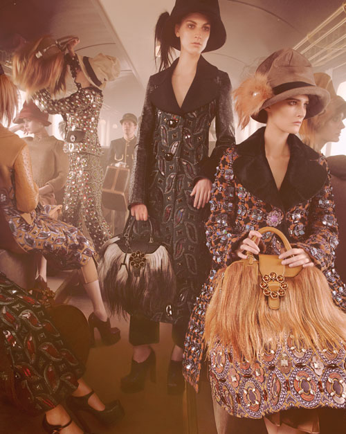 Louis Vuitton autunno inverno 2012-2013, la campagna pubblicitaria
