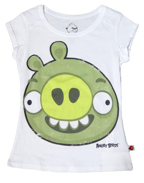 bershka t shirt angry birds stampa