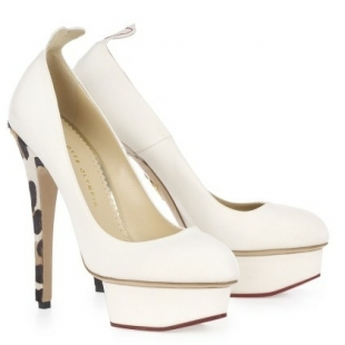 charlotte olympia pumps bianche