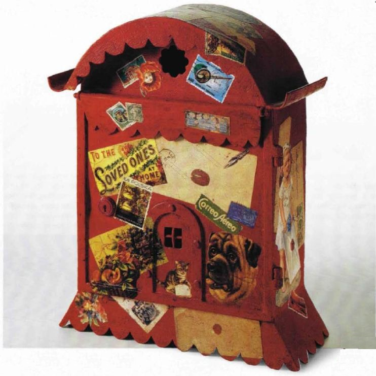 Decoupage fantasioso su una cassetta postale