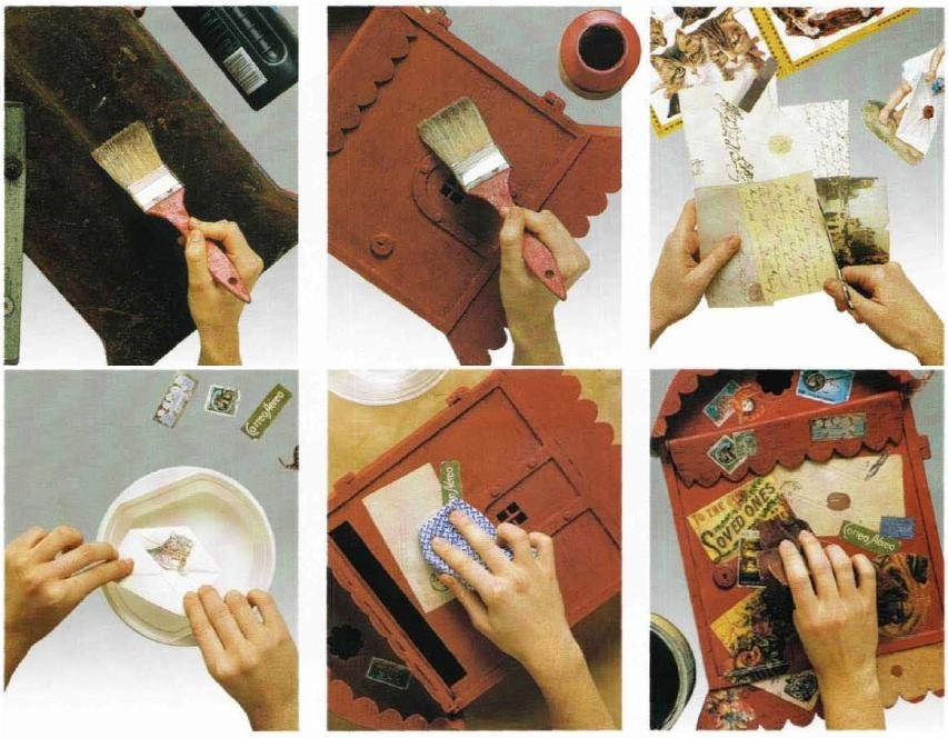Istruzioni cassetta postale decoupage